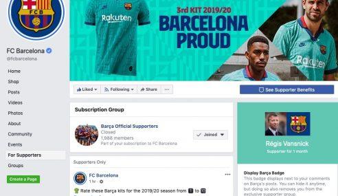 Devenir un supporter officiel du Barca sur Facebook